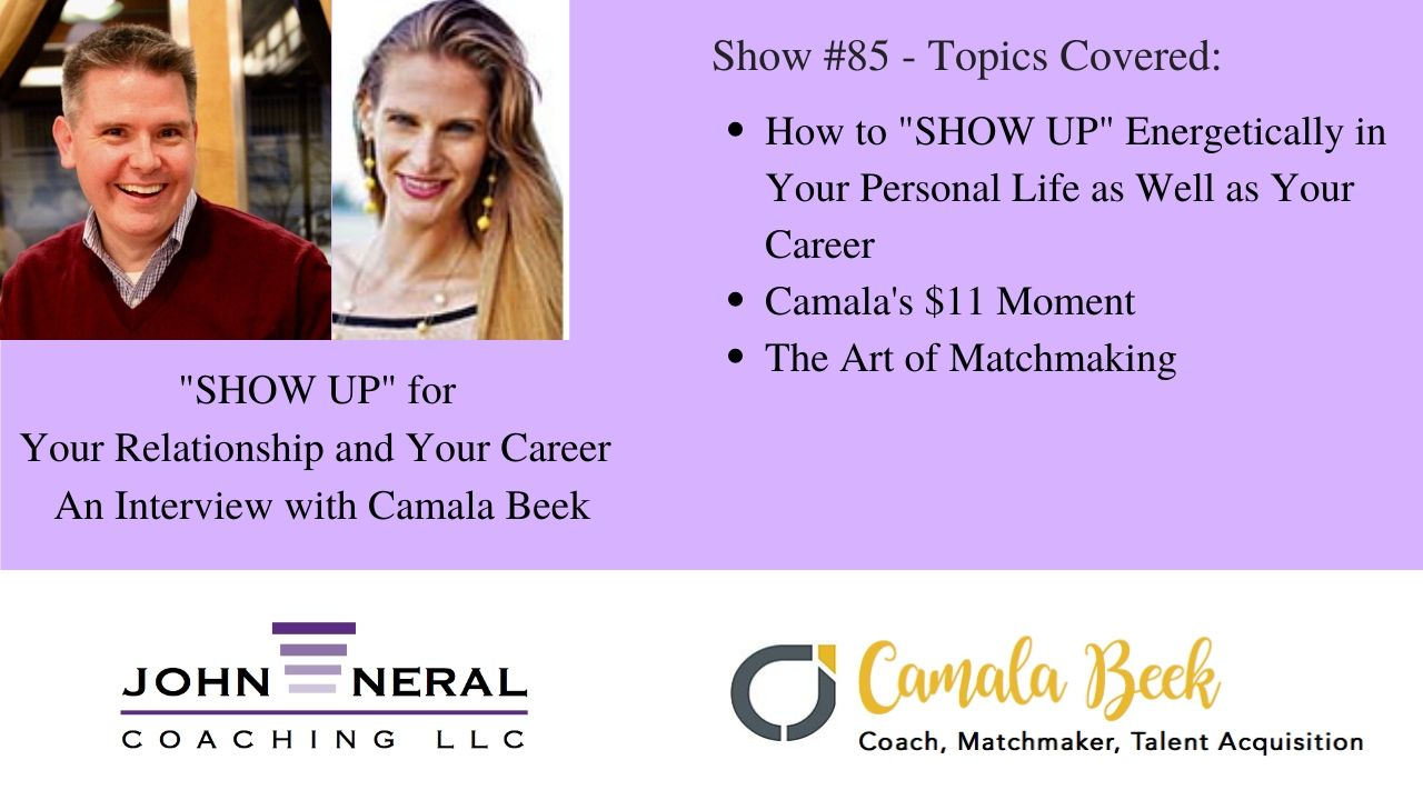 Show #85 – Are You Conscious, Authentic, and Matchable? – An Interview with Camala Beek